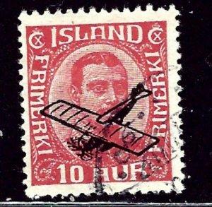 Iceland C1 Used 1928 overprint    (ap2653)