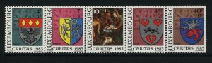 Luxembourg Sc B342-46 MNH Coat of Arms