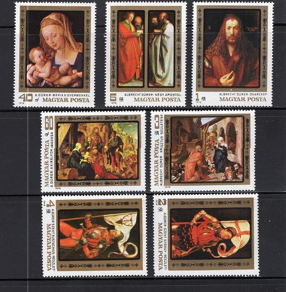 Hungary     #2557-2563   1979   MNH  Durer paintings