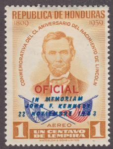 Honduras C325  Abraham Lincoln w/ JFK O/P 1964