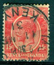 Kenya Uganda & Tanzania; 1922: Sc. # 24: O/Used Single Stamp