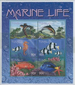 Tuvalu 2000 SG895a Marine Life sheetlet MNH