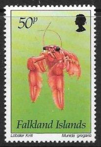 FALKLAND ISLANDS SG708 1994 50p MARINE LIFE MNH