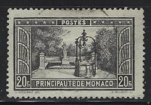 Monaco 1932 20F Black Royal Gardens Sc# 130 used