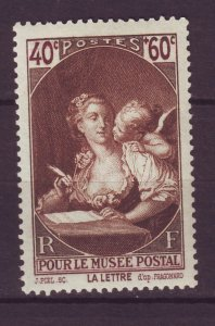 J24618 JLstamps 1939 france set of 1 mnh #b92 the letter