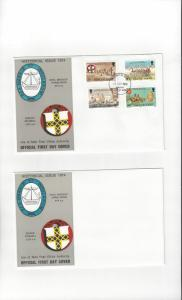 Isle of Man FDC 44-47 Historical Issue  Official Cover
