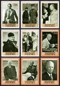 Fujeira Michel #365-373 set/9 mnh - 1969 Dwight Eisenhower - photos