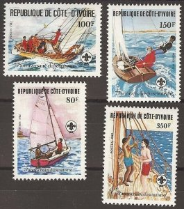 1982 Ivory Coast Sea Scouts 75th anniversary sailing
