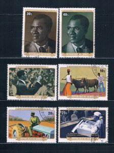 Guinea 738-43 Used set Democratic Party 1977 (G0377)