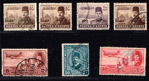EGYPT STAMP USED STAMP COLLECTION LOT  #1