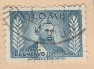 Colombia 1952 1c Fine Used A8P55F97