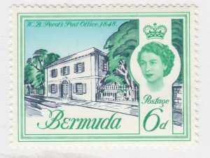 British Colony Bermuda 1962 6d MH* Stamp Historical Buildings A22P18F8922