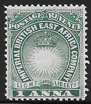 British East Africa Company 15 Unused/Hinged