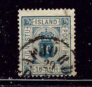 Iceland O6 Used 1875 issue