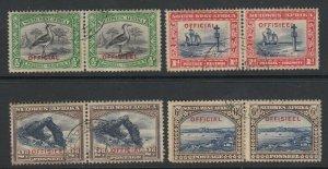 South West Africa, Scott O13-O16 (SG O13-O16), used