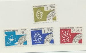 France Scott #2101 To 2104, The Four Elements Issue From 1988 - Free U.S. Shi...