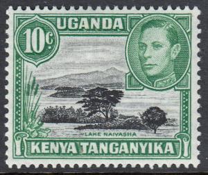 Kenya Uganda Tanganyika KGVI 10c Black Green SG135c Mint