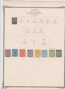 latvia 1919 occupation  stamps on page ref r9125