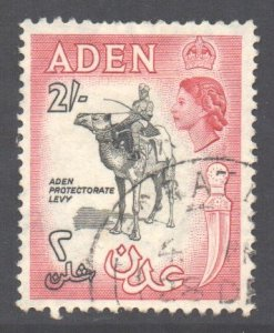 Aden Scott 57a - SG66, 1953 Elizabeth II 2/- Black used