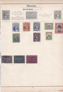 america guatemala & haiti stamps sheet ref 17809