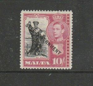 Malta 1948 Self Govt Opts 10/- UM/MNH SG 248
