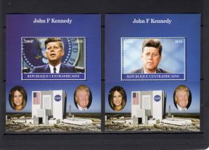 Central African 2016 J.F.Kennedy/Donald Trump/Nasa Space 2 S/S Perforated