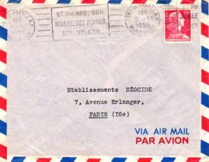 Martinique France 15F Marianne de Muller 1955 Fort-de-France R.P. Martinique ...