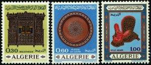 Algeria #421-23  MNH - Handicrafts (1969)
