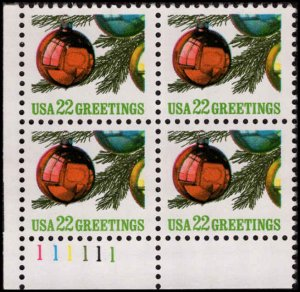 US #2368 CHRISTMAS TREE MNH LL PLATE BLOCK #111111 DURLAND $2.25