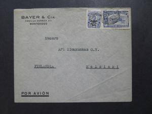 Uruguay 1950 Commercial Airmail Cover to Finland - Z8110