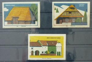 Match Box Labels ! architecture construction house houses GN2