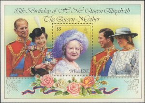 1985 Belize #761-762, Complete Set, Souvenir Sheet Only, Never Hinged