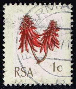 South Africa #352 Coral Tree Flower; Used (0.25)