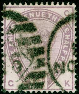 SG188, 1½d lilac, USED. Cat £42. GK