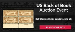US Back of Book Auction #30