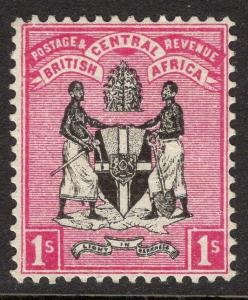 NYASALAND SG25 1895 1/= BLACK & ROSE MTD MINT
