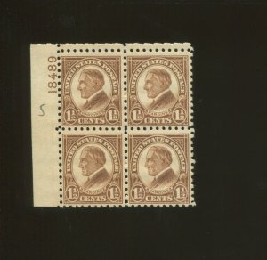 United States Postage Stamp #582 MNH F/VF Plate No. 18489 Block of 4