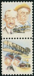 #C92ab WRIGHT BROTHERS WITH ULTRA & BLACK OMITTED ERROR CV $600 HW1873