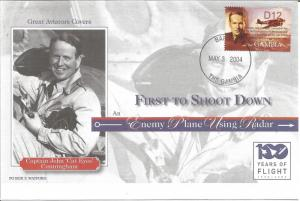 100 Years Of Flight FDC - Captain John 'Cats Eyes' Cunningham 2004 Gambia Z5511