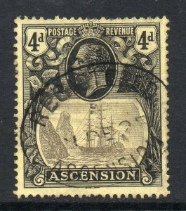 Ascension 1924 KGV 4d Ship SG 15 used CV