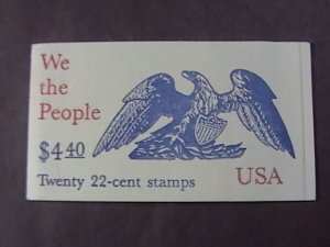 U.S.# 2255-2359(2359a)--BK162-MINT/NH-COMPLETE FOLDED BOOKLET----1987
