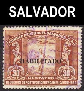 El Salvador Scott C43 F+ used.