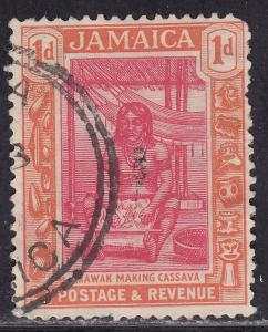 Jamaica 89 USED 1922 Arawak Woman Preparing Cassava 1d