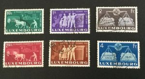 Luxembourg Sc# 272-277 Used - United Europe.Agriculture,industry; Mi# 478-483