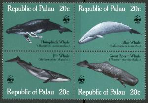 Palau MNH Block 27A Whales WWF 1983