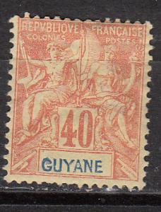 French Guiana 45 Cer 39 MH Fine App. 1892 SCV $24.00