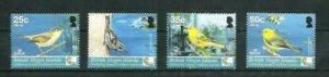 British Virgin Islands Birds 4v Scott 422-25 MNH