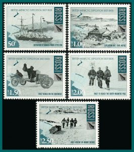 Ross Dependency 2008 British Antarctic Expedition, MNH #L104-L108,SG110-SG114