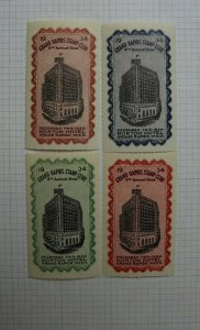 1934 Grand Rapids MI Stamp Club 6th Annual Show Souvenir Ad Set of 4
