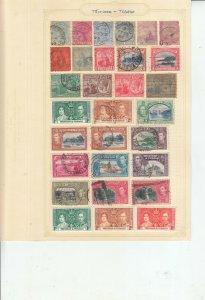 TRINIDAD AND TOBAGO 4 ALBUM PAGES OF MINT/USED VALUES/SETS